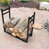 Firewood Log Rack Kindle Outdoor Heavy Duty Wood Storage ...