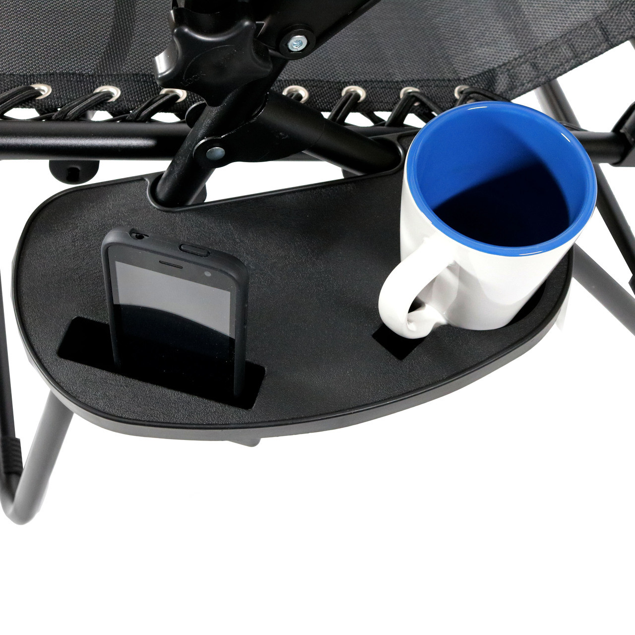 video game chair with cup holder sofa and covers amazon sunnydaze zero gravity mobile device slot