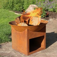 Sunnydaze Small Rustic Cast Iron Fire Pit Bowl with Built ...