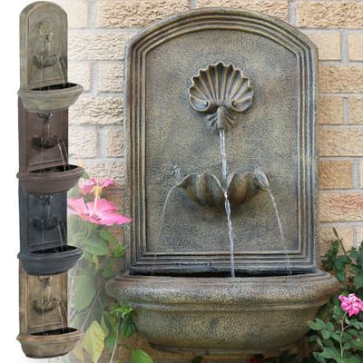 Sunnydaze Seaside Outdoor Wall Fountain with Electric