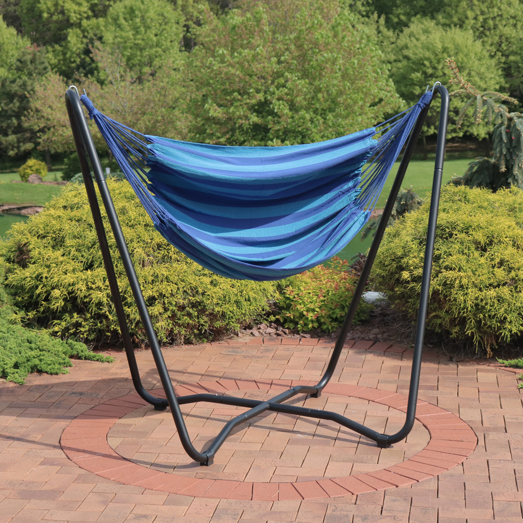 hanging chair big w cover rentals victoria sunnydaze 2 point hammock swing and a stand