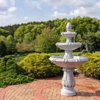 Sunnydaze 3-Tier Gothic Finial Outdoor Garden Water ...
