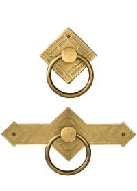 Brass Diamond Cabinet Ring Pulls - TableLegs.com