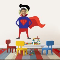 Custom Superhero Photo Wall Decals Home Decor Stickers