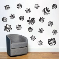 Zebra Print Shapes Flowers and Shapes Wall Decals and Stickers