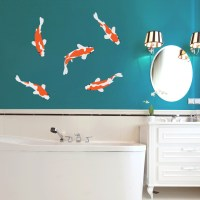 Koi Fish Printed Wall Decals Wall Decor Stickers