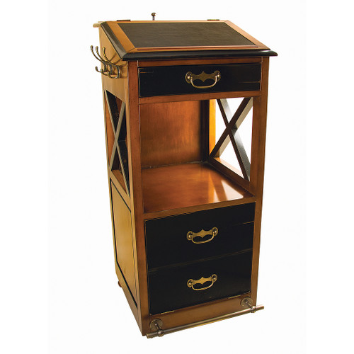 Valet de Chambre Rolling Cabinet Desk 48 Nautical