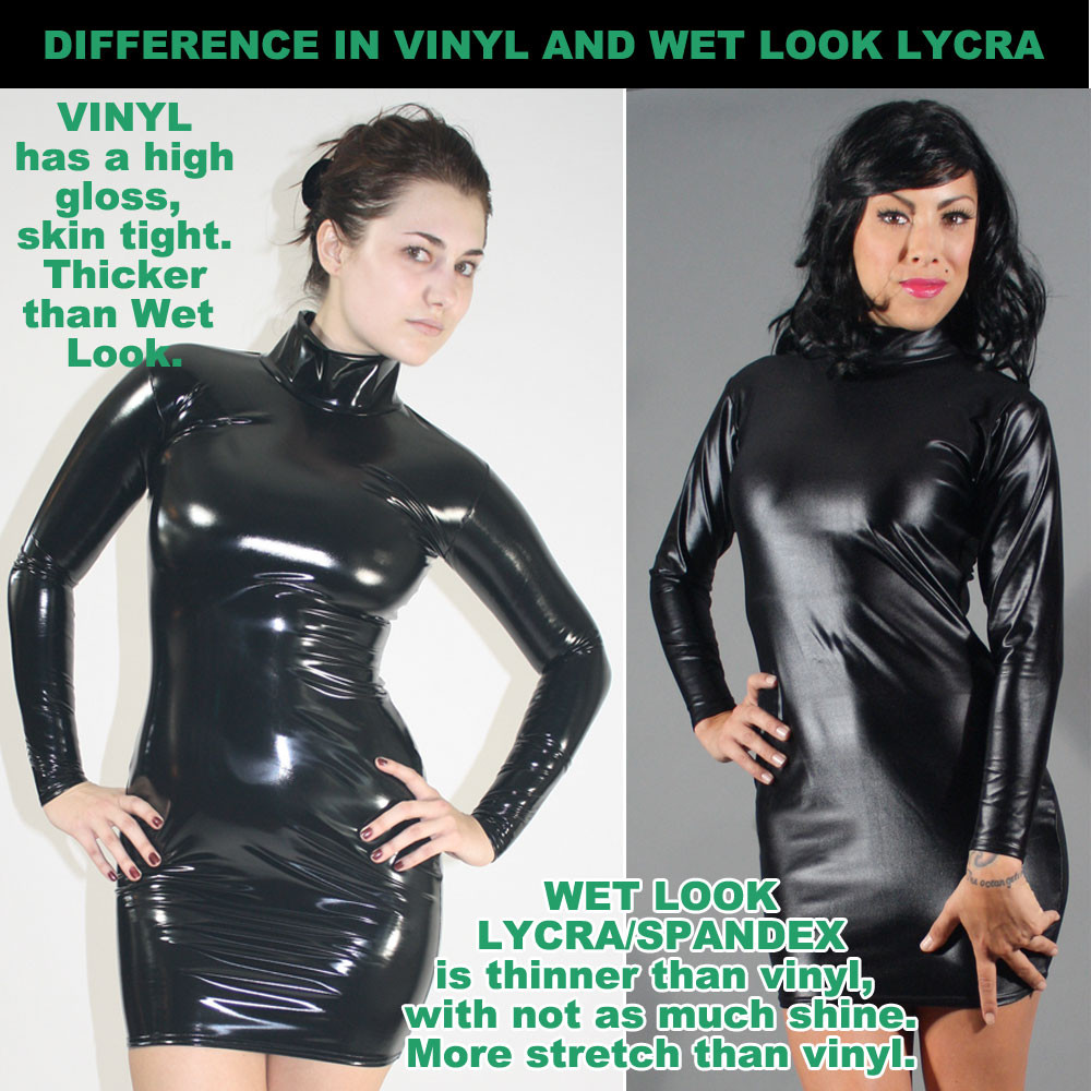 8471bbbfaca Suzi Fox Liquid Vinyl Catsuit. Tank Mini Dress In Shiny Gloss Black Vinyl  Pvc Spandex