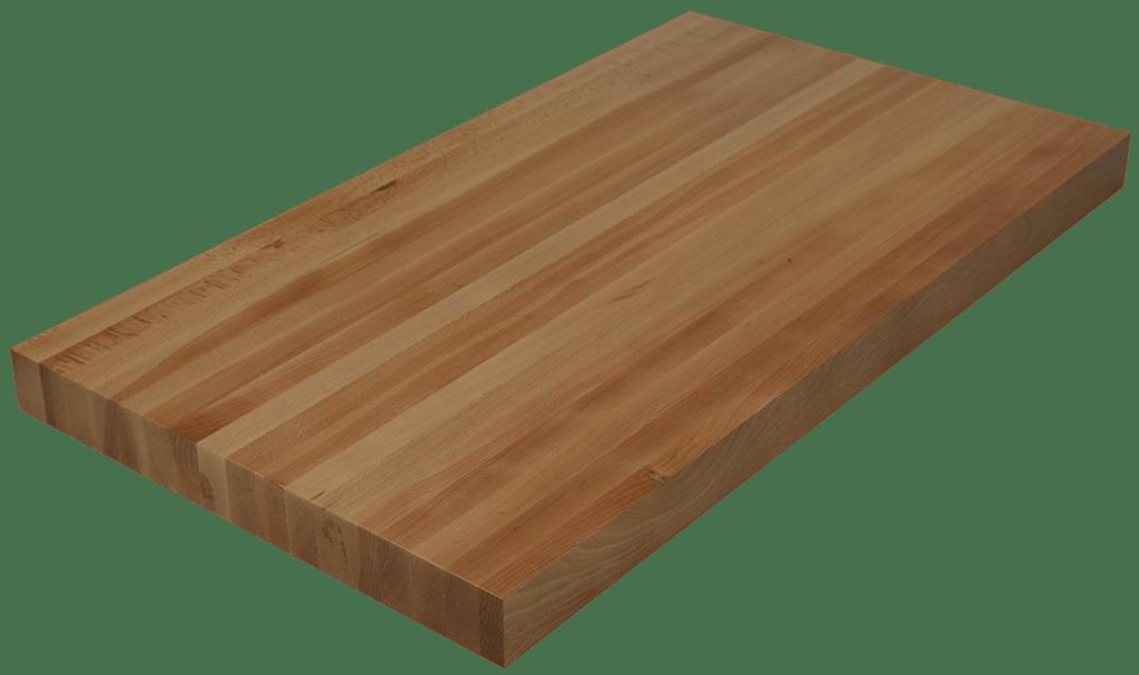 Beech Edge Grain Butcher Block Countertop  Hardwood