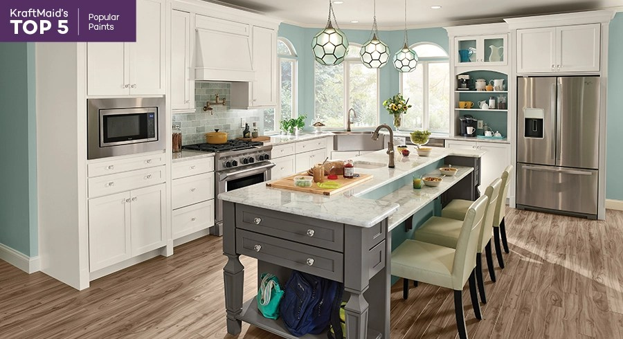 roll up cabinet doors kitchen quartz counters top 5's: popular paint finishes - kraftmaid