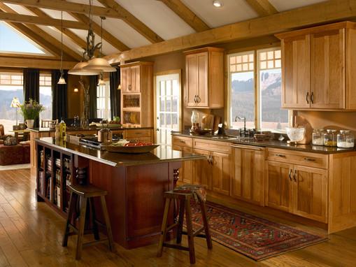 Hickory Kitchen In Honey Spice Kraftmaid