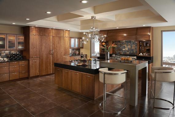 Kitchen featuring Vauxhall Glass Doors  KraftMaid