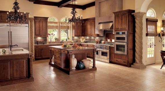 decorative track lighting kitchen waverly valances oak in cognac - kraftmaid