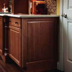 Cleaning Kitchen Wood Cabinets Stonewall Free Shipping Integrated Base End Panel - Kraftmaid