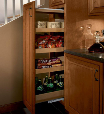 order kitchen cabinets online kohler cast iron sink kraftmaid tall pantry pull-out