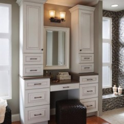Kitchen Cabinet Parts Lowes Delta Faucets Desk Knee Drawer As Part Of A Vanity Dressing Area - Kraftmaid