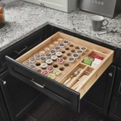 Kitchen Cabinet Parts Delta Faucet Oil Rubbed Bronze Kraftmaid K-cup Organizer Drawer