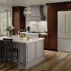 Track Lighting For Kitchens Industrial Style Kitchen Faucet Maple In Aged River Rock & Kaffe Cherry - Kraftmaid