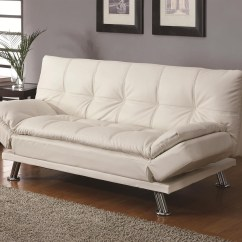 Coasters Sofa Bed 2 Seater Red Leather Coaster Dilleston Contemporary Sleeper In White