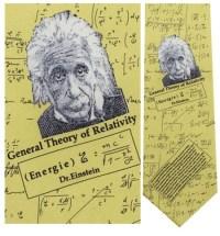 Albert Einstein Necktie : Museum Shop Tie & History Gift