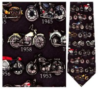Motorcycles - Retro Series Necktie : Museum Shop Tie ...