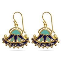 Egyptian Lotus Earrings - Museum Shop Collection