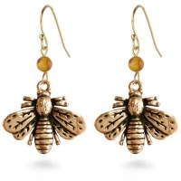 Napoleonic Bee Drop Earrings - Museum Shop Collection