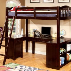 Loft Bed With Desk And Futon Chair Leather Modernist Bunk Beds Back To School Basics Www