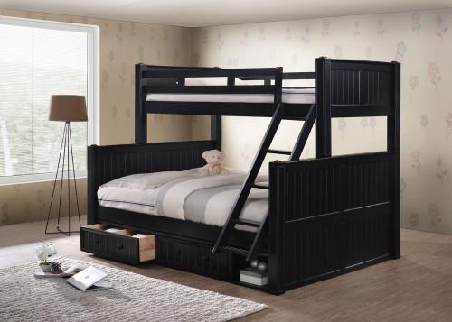 Triple Bunk Bed Queen Bottom Novocom Top