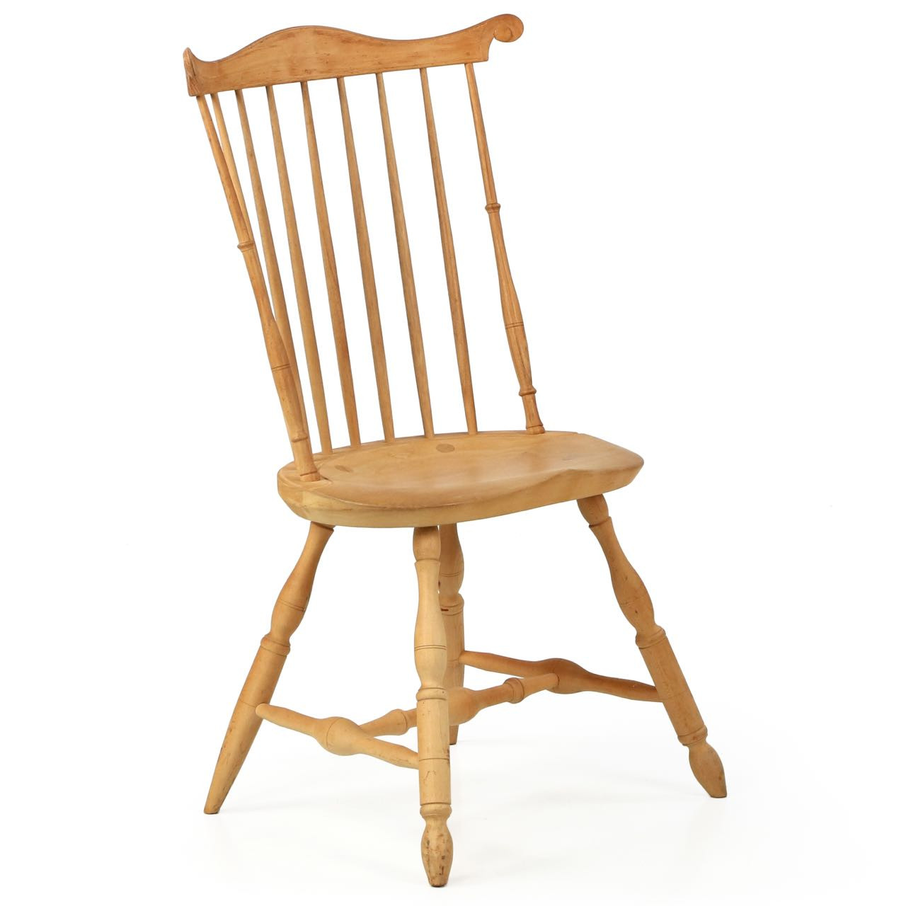 Windsor Style Chairs American Lancaster Style Fanback Windsor Side Chair 20th