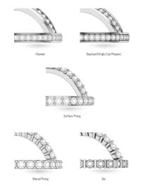 Diamond Wedding Band Setting Styles