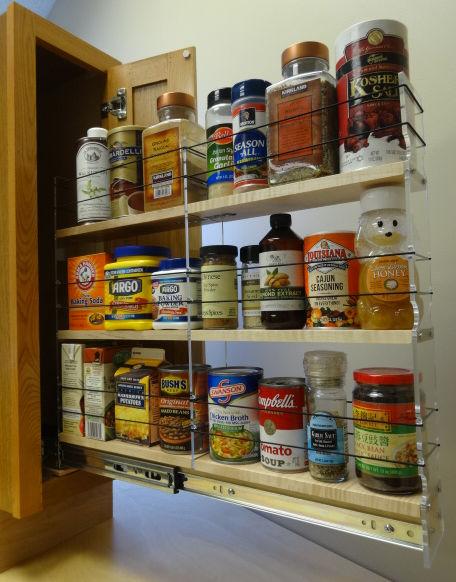 tall skinny deep cabinet spice racks