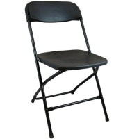 Lightweight Black Plastic Folding Chairs