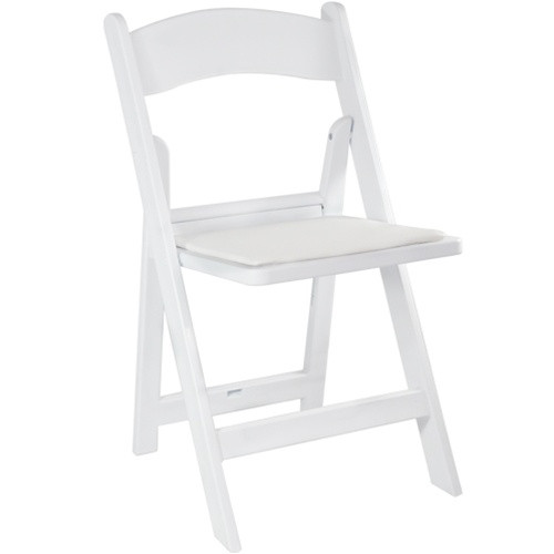 White Resin Folding Wedding Chair