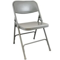 Gray Metal Folding Chairs | Double Braced Folding Chairs