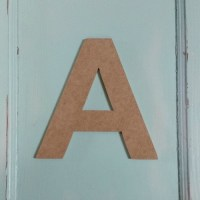 Unfinished Wooden Alphabet Letters (A) Wall Decor ...