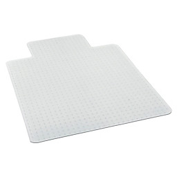clear chair mat bedroom comfy defcm34113 deflect o glass chairmat with lip for thin commercial grade carpets 36inw x 48ind