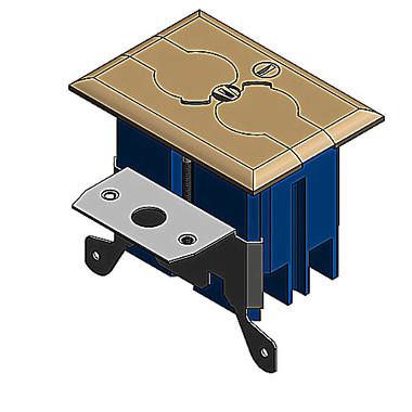 Carlon B121bfbb  Adjustable Floor Box Kit With Brass Cover