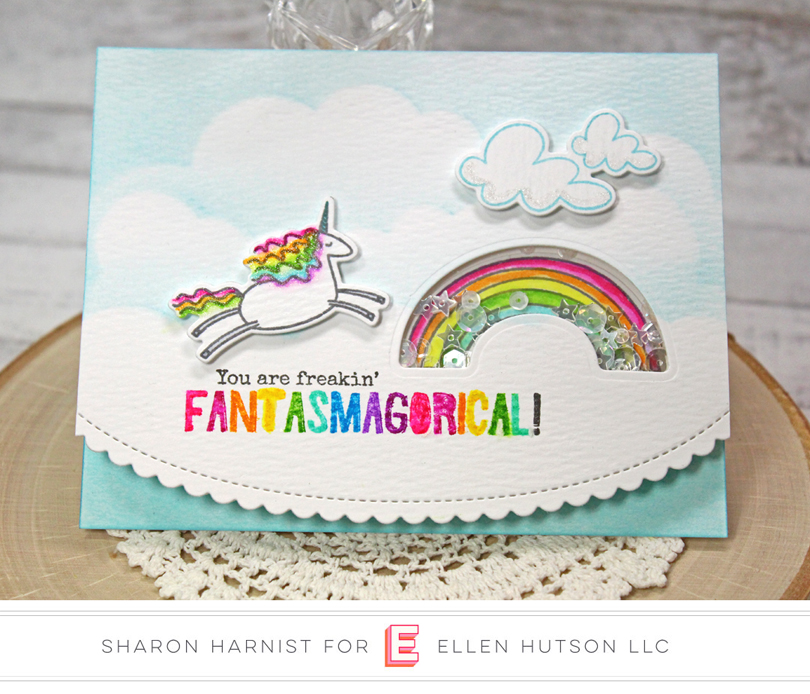 Unicorns 'N Rainbows Card by Sharon