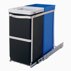 Commercial Kitchen Trash Can Cabinets Images Pull Out Garbage | Sliding Recycling Bin ...