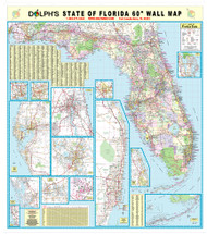 Central Florida 60quot Wall Map Rail Mounted Dolph Map LLC