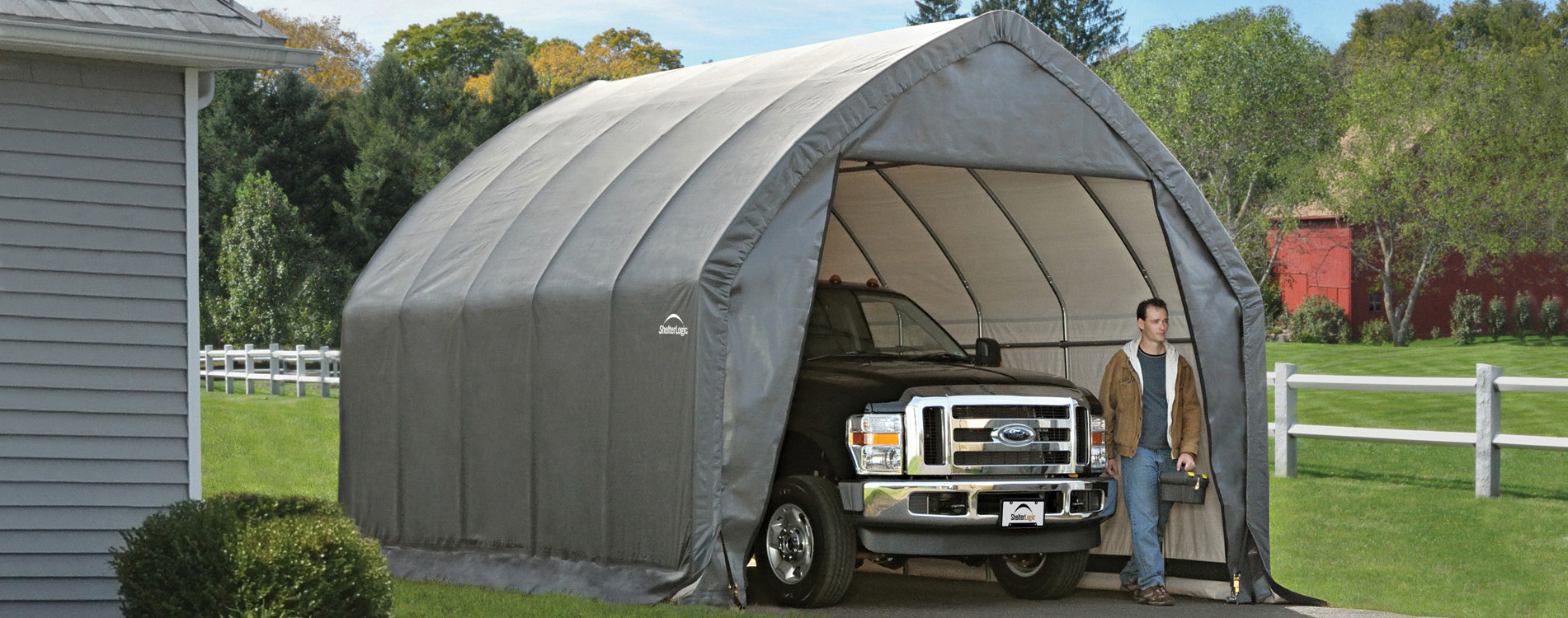 Shelters Of New England Portable Garages Carports And Canopies Including ShelterLogic And