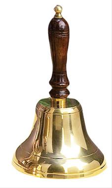 Brass School Teacher Wood Hand Bells