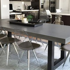 Concrete Kitchen Table Rolling Island Trueform Countertops Sinks Vanities Tables And More Dining