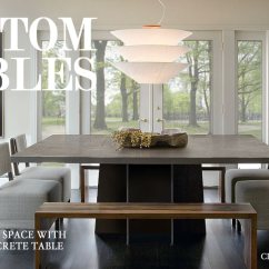 Concrete Kitchen Table Stone Top Custom Dining Tables Trueform And