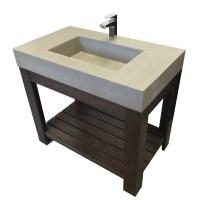 Trueform 36 Lavare Vanity with Concrete Rectangle Sink ...
