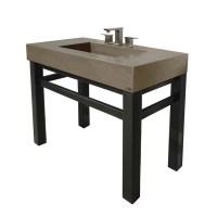 """36"""" Industrial Novo Concrete Bathroom Vanity Sink"""