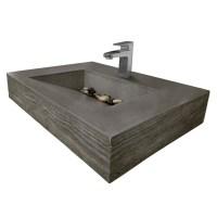 "30"" ADA Concrete Floating Bathroom Sink - Trueform"