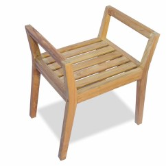 Teak Shower Chairs With Arms Patio Chair Armrest Covers Bench By Regal Great Garden