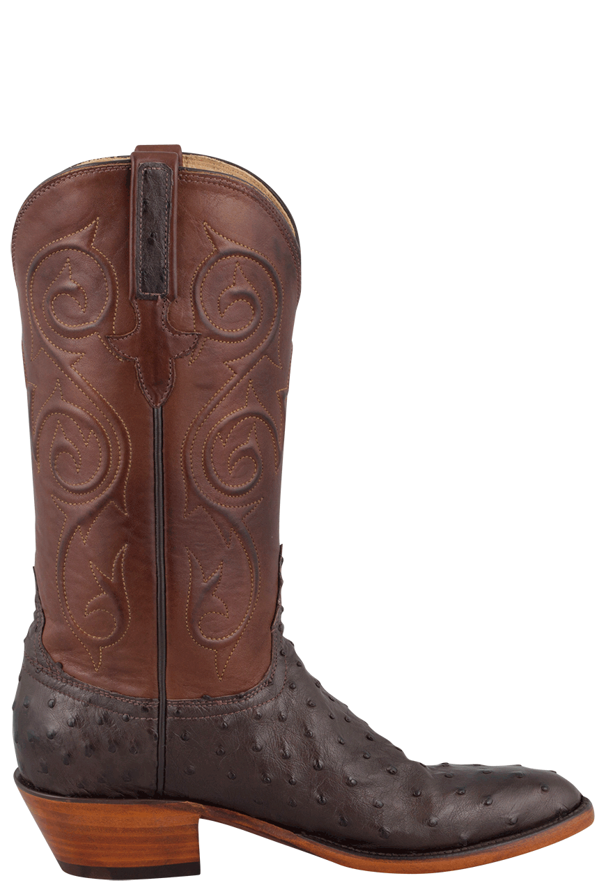 Lucchese Women' Nicotine Full-quill Ostrich Boots - Pinto